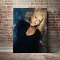 Abstract portret - obraz na płótnie