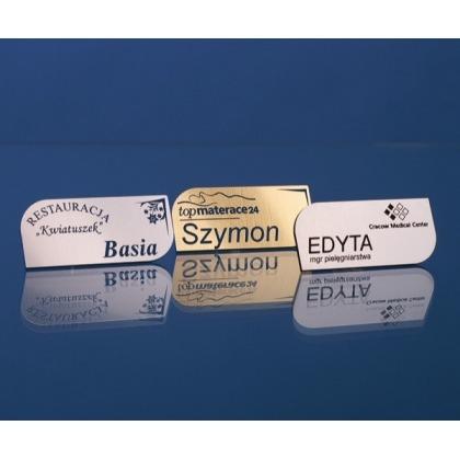 Grawerowany identyfikator w kształcie ostrza