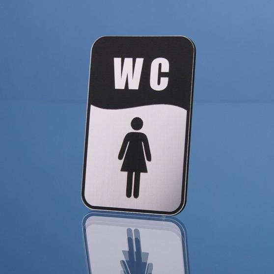 Grawerowana tabliczka WC - piktogram