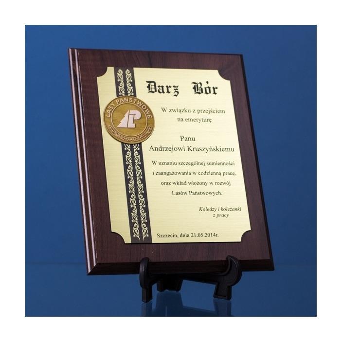 Dyplom dla leśnika