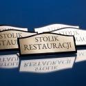 Stojak informacyjny stoliki restauracji bk
