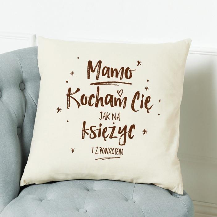 Kocham Cię jak na księżyc - poduszka personalizowana