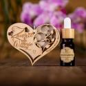 Ekologiczna zawieszka zapachowa - serce z grawerem