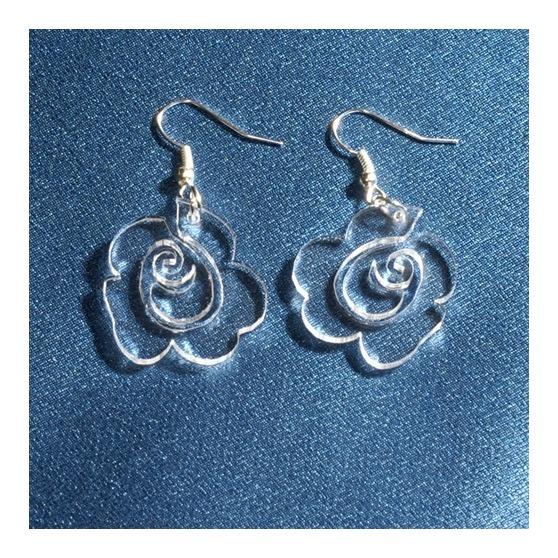 Kolczyki róża