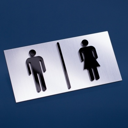 Tabliczka toaleta męska i damska