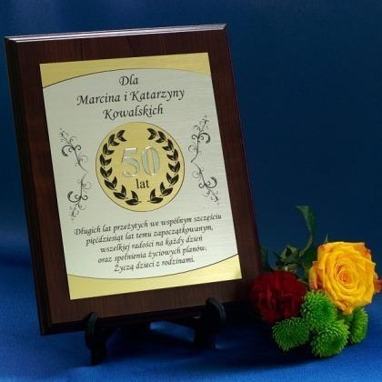 Dyplom grawerowany na jubileusz